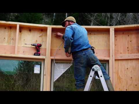 Building an Off Grid Yurt Part 7: 24 Walls in Place