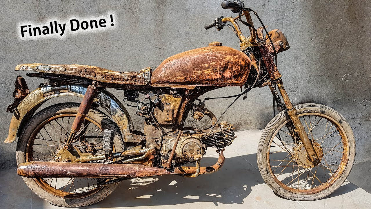 Restoration Abandoned Motorcycle Honda 70cc 4 Stroke Finalization # 4