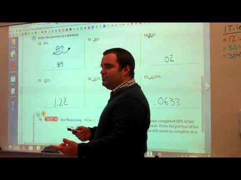 Changing Percents to Fractions and Decimals
