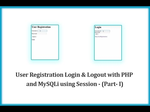 User Registration Login & Logout with PHP and MySQLi using Session - (Part- I)