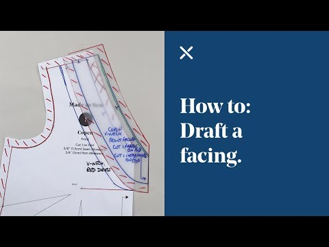 How To: Draft a Facing (Pattern Cutting)