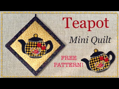 Mini quilt tutorial with FREE PATTERN by Lisa Pay