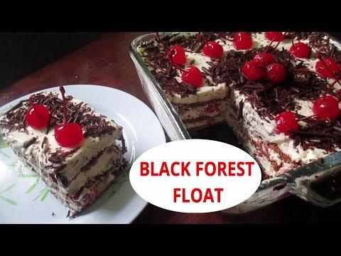 No bake Black Forest Cake | Black Forest Float | How to make Black Forest cake