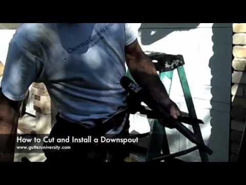 How to Cut and Install a Downspout