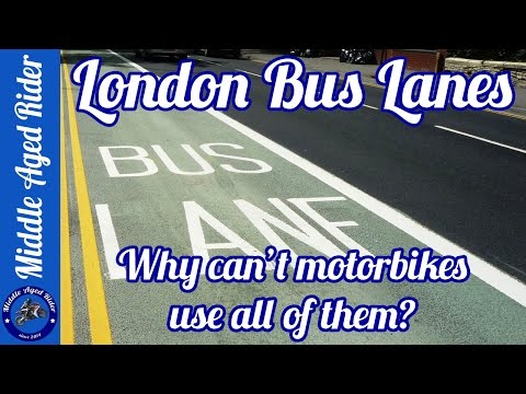 London Bus Lanes - Why can't motorbikes use all of them?