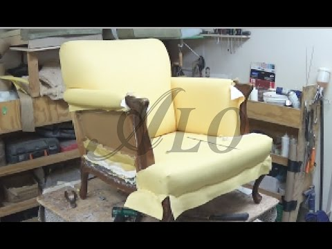 HOW TO REUPHOLSTER THE ARM AND BACK Of A CHAIR -  ALO Upholstery