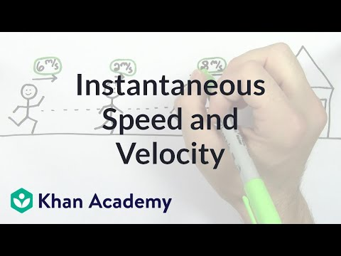 Instantaneous speed and velocity | One-dimensional motion | Physics | Khan Academy