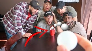 PING PONG TRICK SHOTS TRUTH OR DARE!!