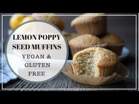 Gluten Free Vegan Lemon Poppy Seed Muffin Recipe