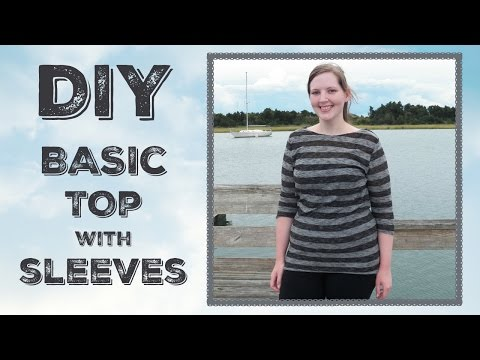 DIY Easy Shirt with Sleeves Sewing Tutorial - Basic Top