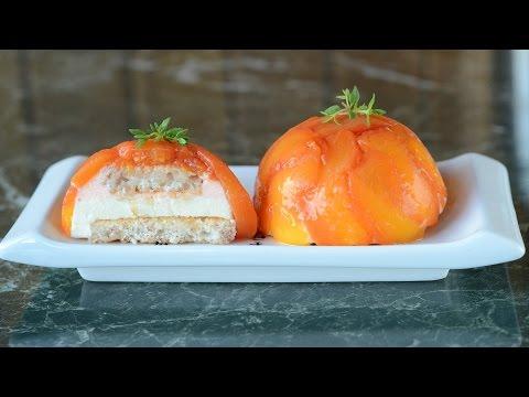 Poached Peach Mousse Dome – Fruit Entremet Recipe