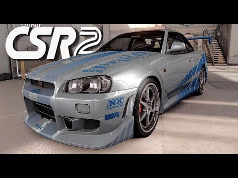 CSR 2 - Fast & Furious C-West Skyline GT-R  - 1080p HD Live Stream
