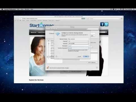 Mac Guide on creating a Mac HotSpot