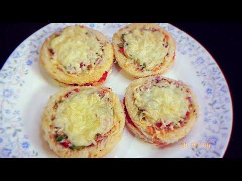Cheesy Mini Disc Pizza Bites 🍕 | Mini Pizza Recipe| Mini Pizza Party Appappetizers