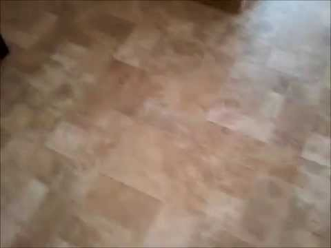how to install one piece kitchen floor install Armstrong vinyl sheet goods clean step no glue floor