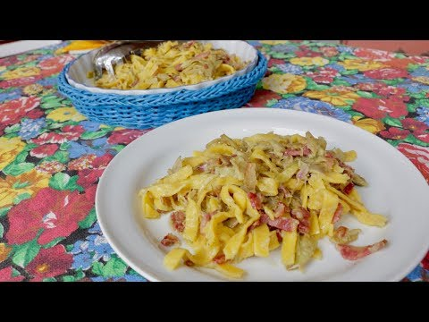 How to Make Fettuccine Pasta with Artichokes | Pasta Grannies