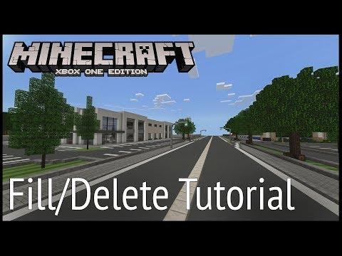 Minecraft Xbox - Fill / Delete Tutorial (Commands)