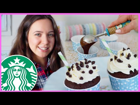 Starbucks Inspired Double Chocolatey Chip Frappuccino Cupcakes with SweetEmelyne!