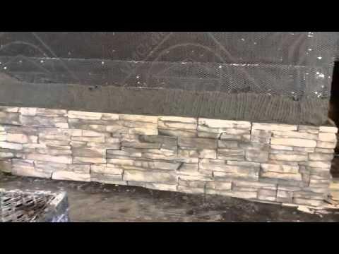 Fireplace Stone Siding Installation Stacked Stone Veneer
