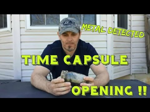 Opening a mysterious Time Capsule / Witch jar dug Metal Detecting - Treasure? Coins? Bones?
