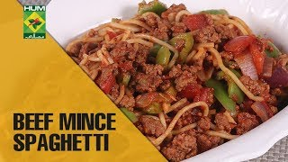 Easy and Yummy Beef Mince Spaghetti |Food Diaries| Masala TV Show | Zarnak Sidhwa