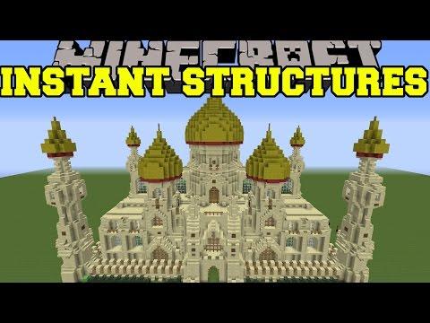 Minecraft: INSTANT STRUCTURES (EPIC PALACE, BETTER HOUSES, UNIQUE STRUCTURES, & MORE!) Mod Showcase