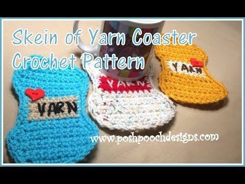 Skein Of Yarn Coaster Crochet Pattern