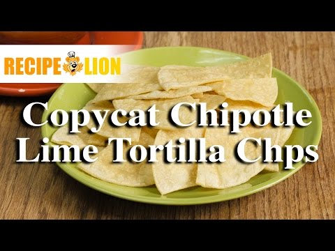 Copycat Chipotle Recipe: Lime Tortilla Chips