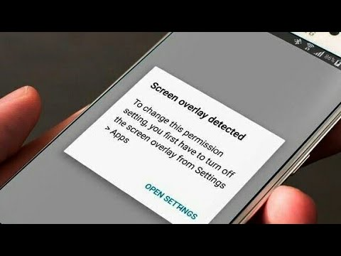 Screen Overlay Detected Solved Permanently [Fixed] turn off screen overlay [Samsung]