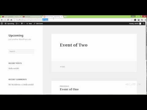 wordpress custom development - custom post type archive-events template, index