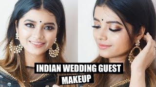 Gold Indian Wedding Guest Makeup with One Special TRICK !!!