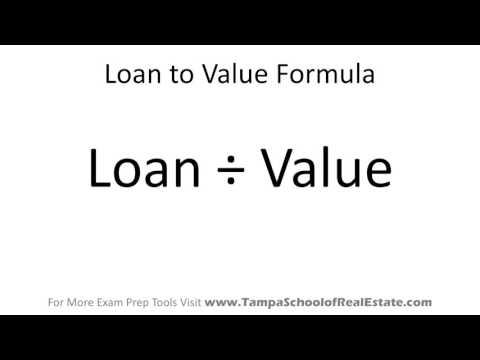 Florida Real Estate Exam Math Prep - Loan to Value Ratio