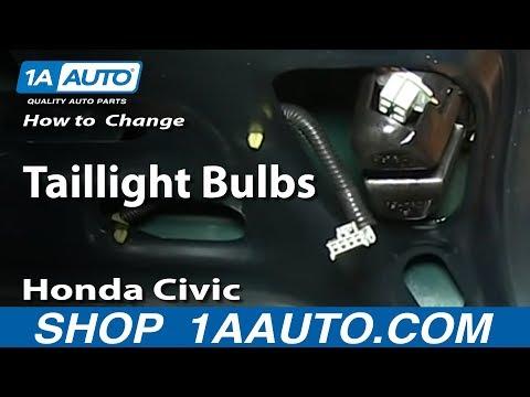 How To Change Taillight Bulbs 1996-00 Honda Civic 4 Door Sedan