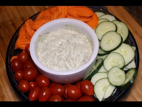 Homemade Super Healthy Ranch Dressing Dip