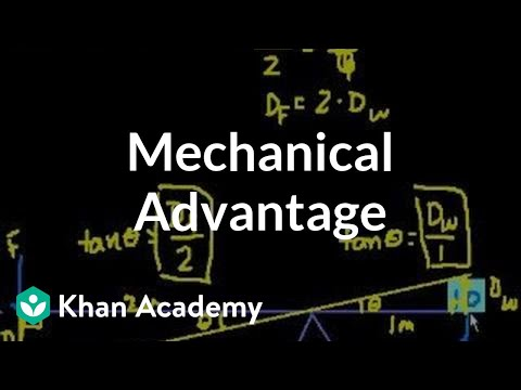 Introduction to mechanical advantage | Work and energy | Physics | Khan Academy