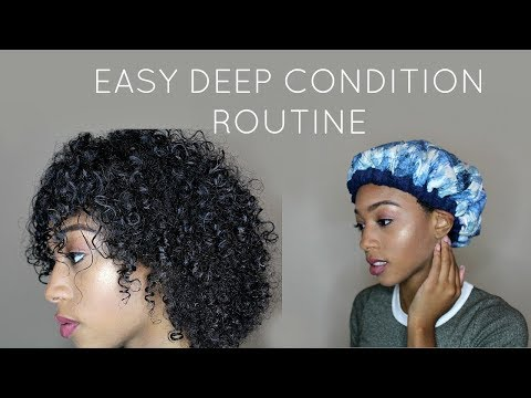 Easy Deep Conditioning Routine for Natural Hair w/ Hot Head Thermal Cap