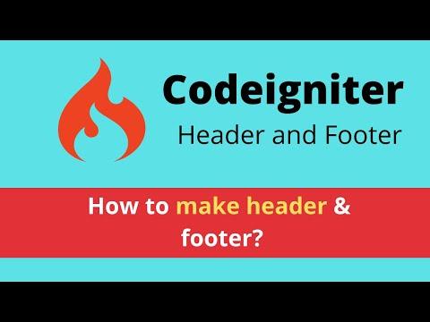 header & footer in codeigniter