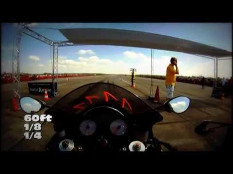 (HD) Kawasaki ZX14R - Ego Perspective 1/4 mile