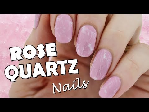 Quick and Easy Rose Quartz Nails!