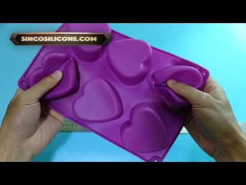 silicone heart mold pan / large silicone heart mold / heart shaped silicone mold