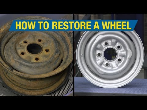 How to Restore a Wheel - Remove Rust & Make Wheels Look New Again! Eastwood