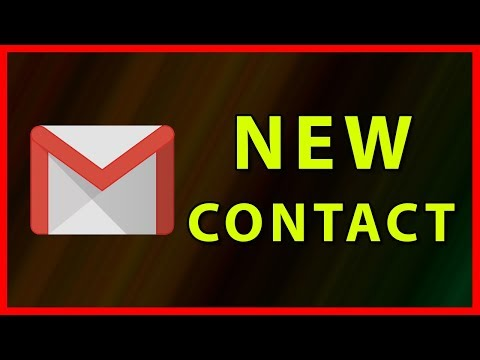 How to add a new contact in Gmail - Tutorial