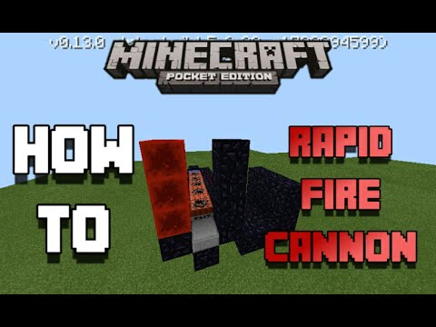 How To Make A Rapid Fire TNT Cannon (Machine Gun) In MCPE 0.13.0 Minecraft PE How To #10