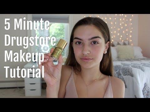 5 Minute Drugstore Makeup Tutorial for School!