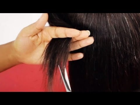 Quick Weave Cutting Layers & Blending Permed or Natural Hair With Weave Tutorial Part 4