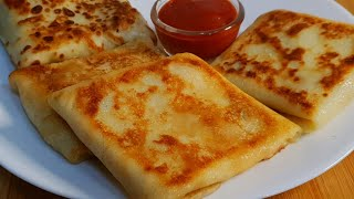 Cheesey Chicken Crepes Recipe ♥️   Easy Breakfast Recipe