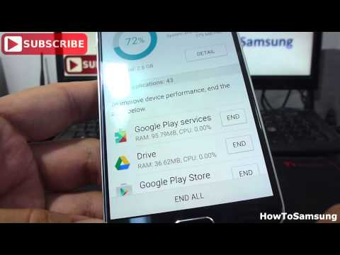 How to close all background apps Android 5.0 Samsung Galaxy S6 Basic Tutorials