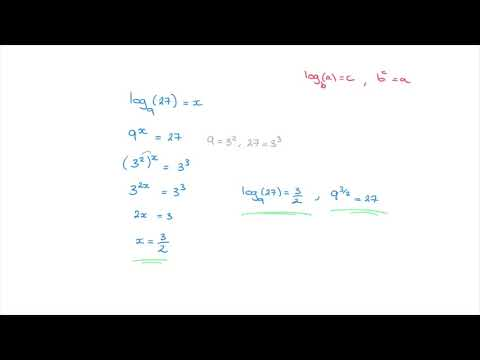 Logarithms - when the result is an improper fraction - Tutorial 5