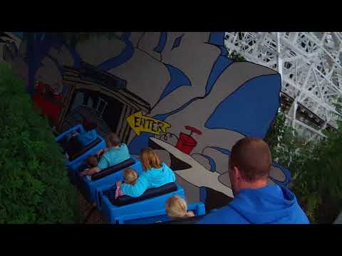 Six Flag's New England's The Great Chase on ride POV