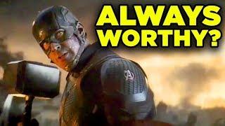 Avengers Endgame CAP MJOLNIR Scene Breakdown! Always Worthy?